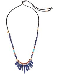 Chan Luu - Leather Multi-stone Necklace - Lyst