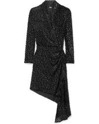 Dodo Bar Or - Ava Draped Flocked Chiffon Mini Dress - Lyst