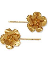 Jennifer Behr | Set Of Two Gold-plated Hair Slides | Lyst
