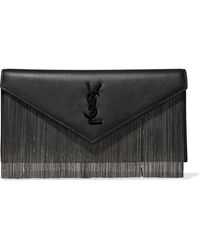 Saint Laurent - Le Sept Chain-embellished Leather Clutch - Lyst
