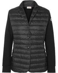 Moncler - Cotton-jersey And Quilted Shell Jacket - Lyst