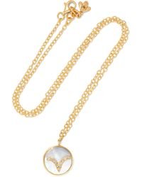 Carolina Bucci - Aries Lucky 18-karat Gold, Diamond And Mother-of-pearl Necklace - Lyst
