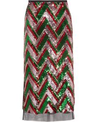 Gucci - Sequined Tulle Midi Skirt - Lyst