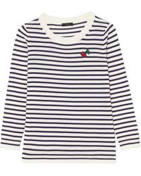 J.Crew | Appliquéd Striped Merino Wool Jumper | Lyst
