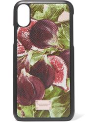 Dolce & Gabbana - Printed Textured-leather Iphone X Case - Lyst