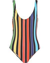 Caroline Constas - Aristi Striped Swimsuit - Lyst