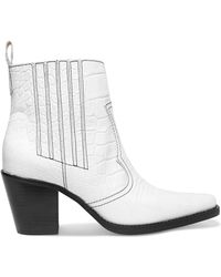 Ganni | Callie Ankle Boots Bright White | Lyst