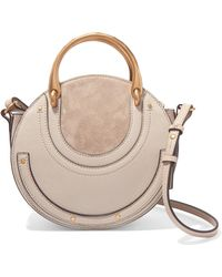 Chloé - Pixie Small Suede And Textured-leather Shoulder Bag - Lyst