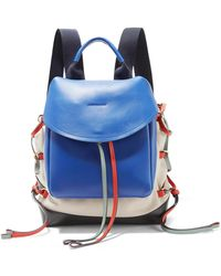 Marni - Leather-paneled Canvas Backpack - Lyst
