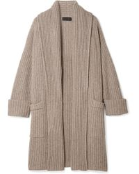 HATCH - The Chunky Ribbed Wool-blend Cardigan - Lyst