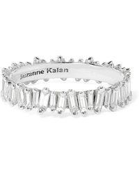 Suzanne Kalan - 18-karat White Gold Diamond Ring - Lyst