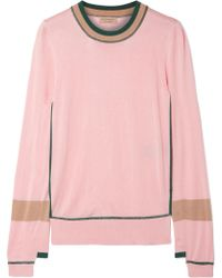 Burberry - Mancos Silk And Cashmere-blend Jumper - Lyst