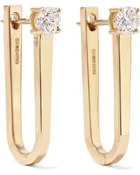 Melissa Kaye - Aria U 18-karat Gold Diamond Earrings - Lyst