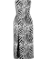 Halpern - Sequined Satin Midi Dress - Lyst