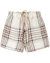 Bassike - Checked Linen-canvas Shorts - Lyst