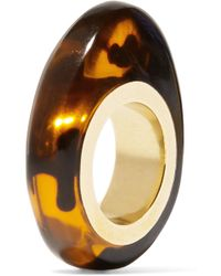 Dinosaur Designs - Tortoiseshell Resin And Gold-tone Ring - Lyst