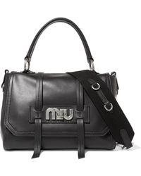 Miu Miu - Grace Leather Shoulder Bag - Lyst