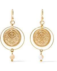 Chan Luu - Gold-tone Crystal Earrings - Lyst