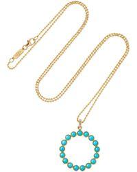 Jennifer Meyer - 18-karat Gold Turquoise Necklace - Lyst