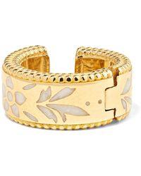 Gucci - Icon 18-karat Gold And Enamel Ear Cuff - Lyst