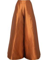 Merchant Archive - Duchesse Silk-satin Wide-leg Pants - Lyst