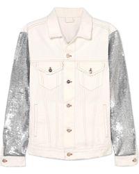 IRO | Nanopo Sequined Jersey And Denim Jacket | Lyst