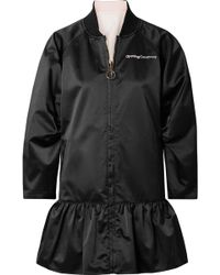 Opening Ceremony - Reversible Embroidered Taffeta Peplum Jacket - Lyst