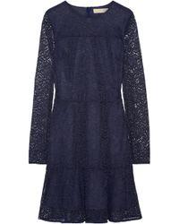 MICHAEL Michael Kors - Stretch-corded Lace Mini Dress - Lyst