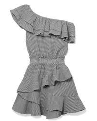 LoveShackFancy - Lacey Gingham Cotton-blend Seersucker Mini Dress - Lyst