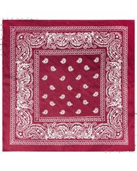 Chan Luu - Embellished Printed Gauze Scarf - Lyst