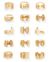 Chloé - Alphabet Gold-tone Ring - Lyst