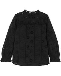 J.Crew - Bash Ruffled Broderie Anglaise Cotton-voile Blouse - Lyst
