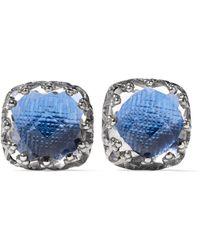 Larkspur & Hawk - Jane Small Rhodium-dipped Quartz Earrings - Lyst