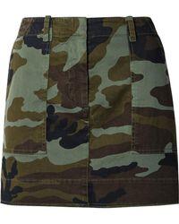 Nili Lotan - Camouflage-print Stretch-cotton Mini Skirt - Lyst
