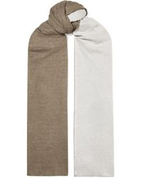 Majestic Filatures - Danae Two-tone Cotton And Cashmere-blend Scarf - Lyst