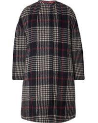 Isabel Marant - Harrison Oversized Plaid Wool Coat - Lyst
