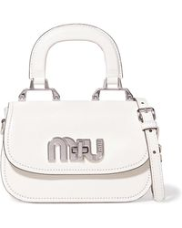 Miu Miu - Madras Mini Textured-leather Shoulder Bag - Lyst