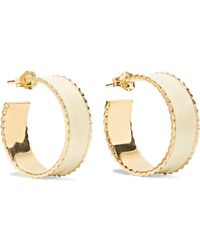 Alison Lou - Lasagna Small Enameled 14-karat Gold Hoop Earrings - Lyst