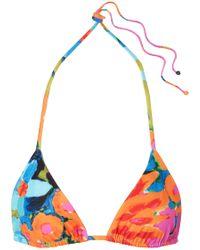 Mara Hoffman - Rae Floral-print Triangle Bikini Top - Lyst