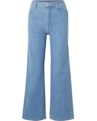 Eckhaus Latta - Cropped High-rise Wide-leg Jeans - Lyst