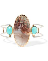 Melissa Joy Manning - 14-karat Gold, Sterling Silver, Turquoise And Agate Cuff - Lyst