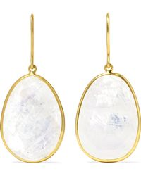Pippa Small - 18-karat Gold Moonstone Earrings - Lyst