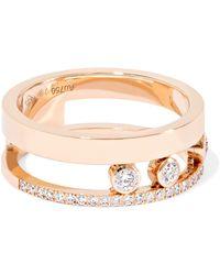 Messika - Move Romane 18-karat Rose Gold Diamond Ring - Lyst