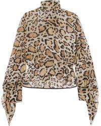 Petar Petrov - Leopard-print Silk Crepe De Chine Blouse - Lyst