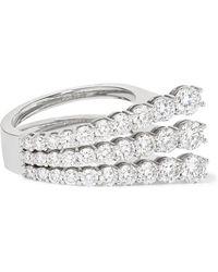Melissa Kaye - Aria 18-karat White Gold Diamond Ring - Lyst