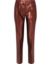 Victoria, Victoria Beckham - Lurex Straight-leg Trousers - Lyst