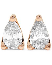 Anita Ko - 18-karat Rose Gold Diamond Earrings - Lyst