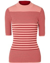 Acne Studios - Winnie Striped Ribbed Cotton-blend Sweater - Lyst