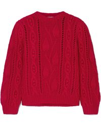 Co. - Cable-knit Wool And Cashmere-blend Sweater - Lyst