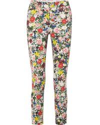Erdem - Sidney Floral-print Stretch-cotton Slim-leg Pants - Lyst